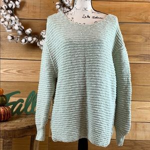 Free People Green Chunky Sweater sz S